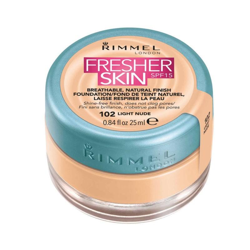 Rimmel Fresher Skin Foundation 102 Light Nude