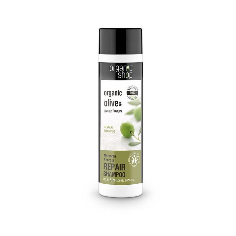 Organic Shop Organic Olive & Orange Flowers Repair Shampoo