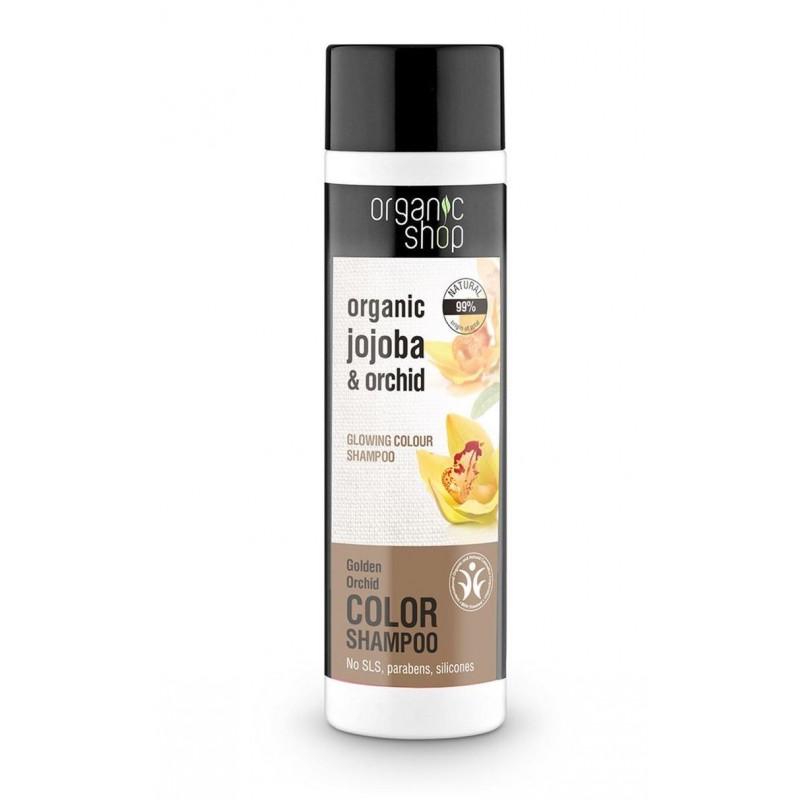 Organic Shop Organic Jojoba & Orchid Glowing Color Shampoo