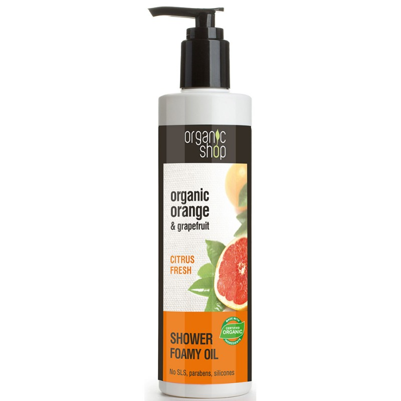Organic Shop Organic Orange & Grapefruit Shower Foamy Oil