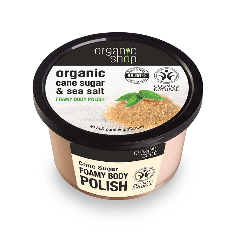 Organic Shop Organic Cane Sugar Foamy Body Polish