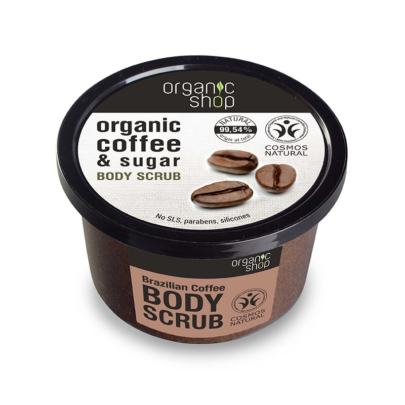 Organic Shop Organic Brazilian Coffee & Sugar Body Scrub