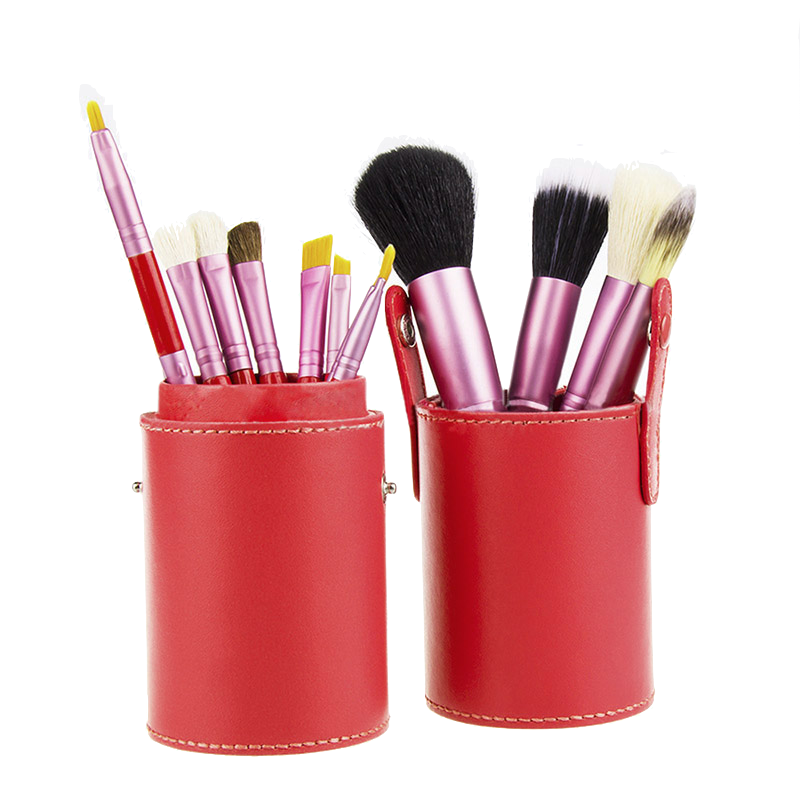 Basics Makeup Brush Set Red