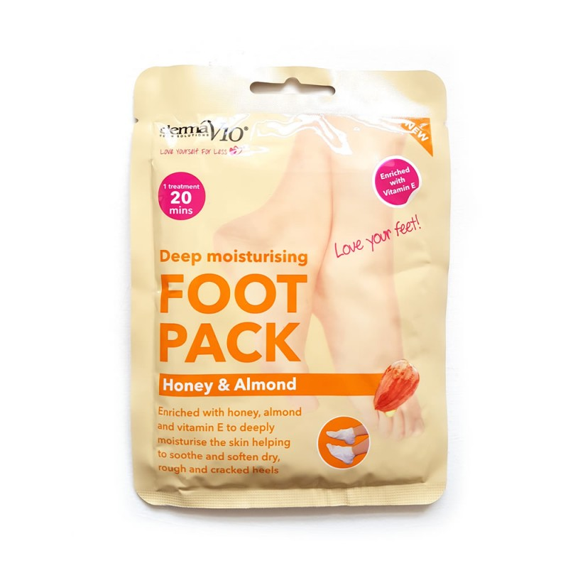 DermaV10 Deep Moisturising Foot Pack Honey & Almond