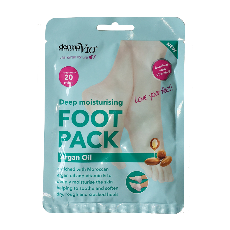 DermaV10 Deep Moisturising Foot Pack Argan Oil