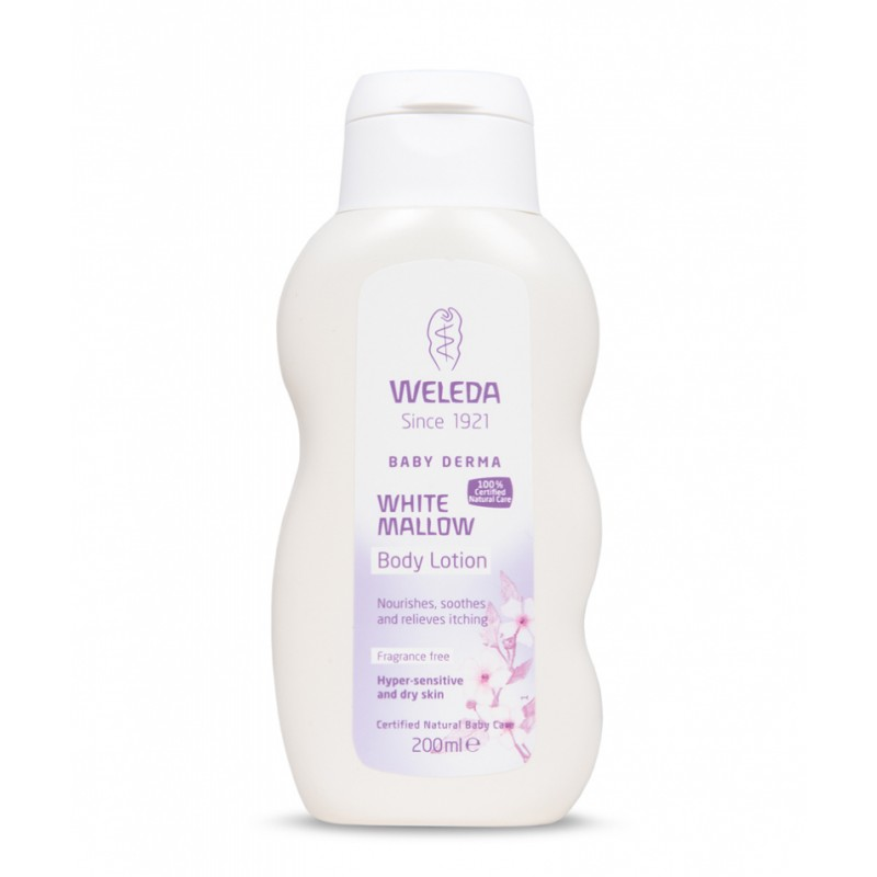 Weleda Baby Derma White Mallow Body Lotion Fragrance Free