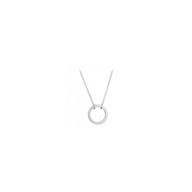 Everneed Kia Circle Necklace Silver