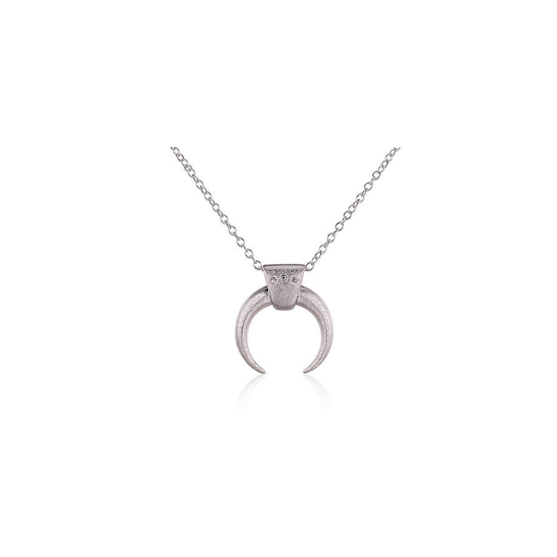 Everneed Luna Moon Necklace Silver