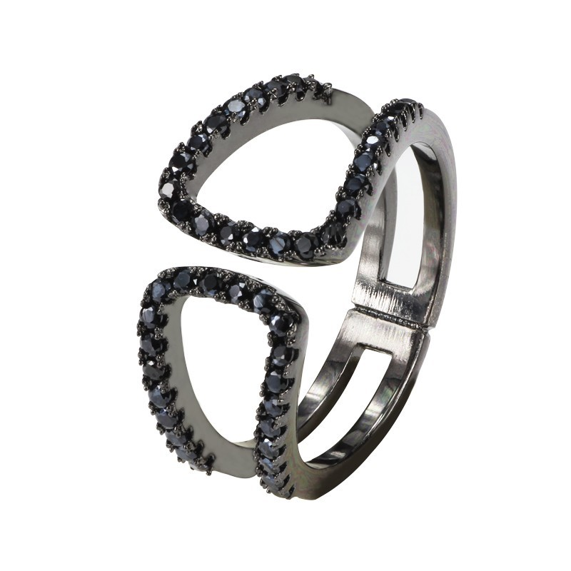 Everneed Filippa Oxidized Black Ring