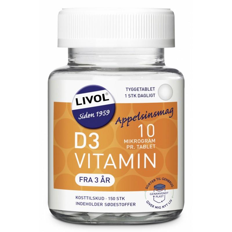 Livol Mono Normal D-Vitamin Chewable Tablets