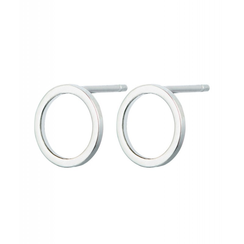 Everneed Baby Smilla Circle Earrings Silver