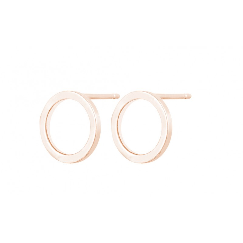 Everneed Baby Smilla Circle Earrings Rose Gold