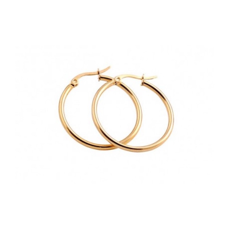 Everneed Mille Small Hoop Earrings Gold