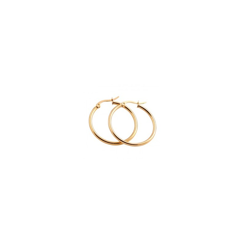 Everneed Mille Large Hoop Earrings Gold