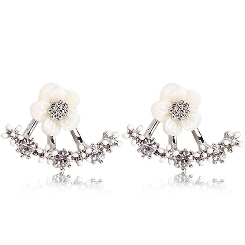 Everneed Melanie Flower Earrings Silver