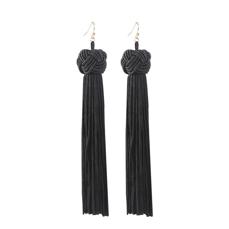 Everneed Maliva Tassel Earrings Black