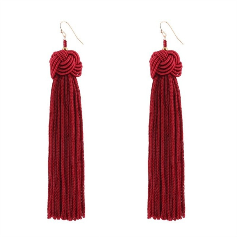 Everneed Maliva Tassel Earrings Red