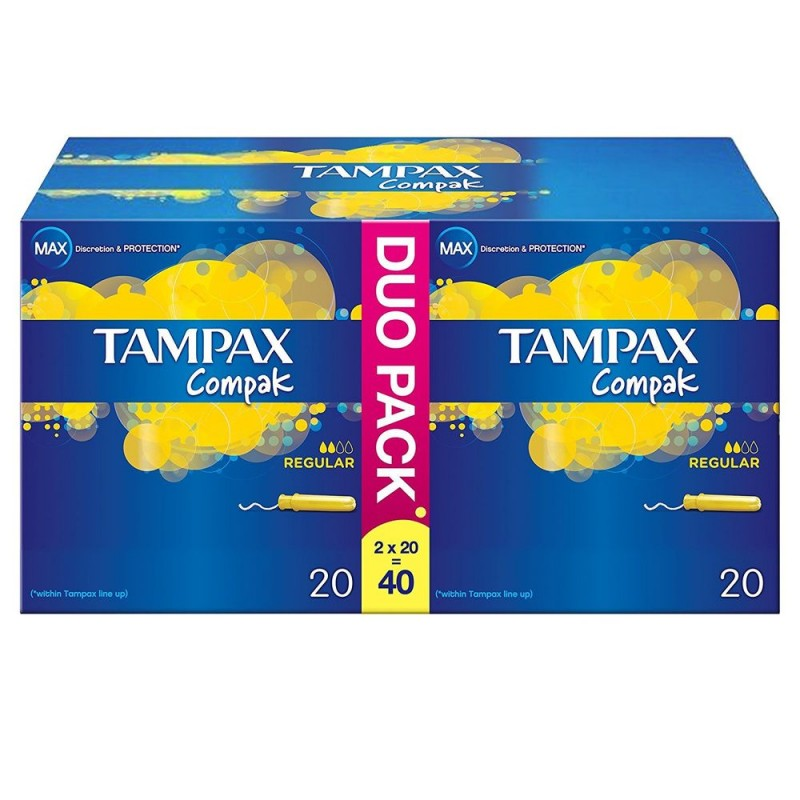 Tampax Compak Duo Pack Regular