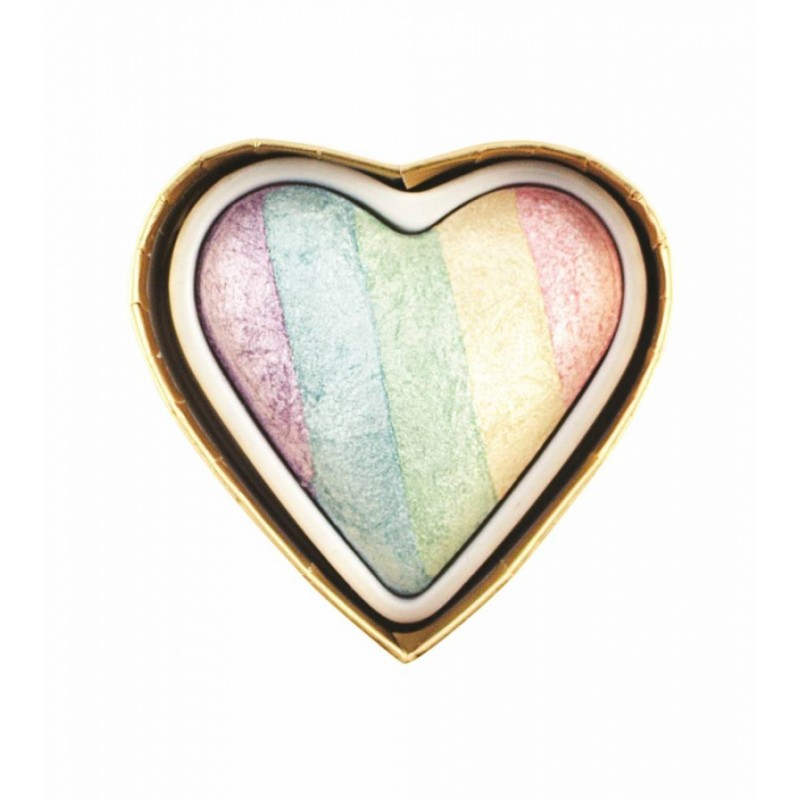 I Heart Makeup Unicorns Heart Baked Highlighter Rainbow