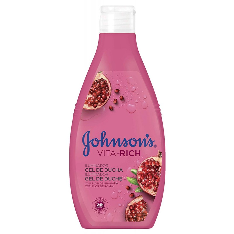 Johnson's Vita Rich Illuminator Pomegranate Shower Gel