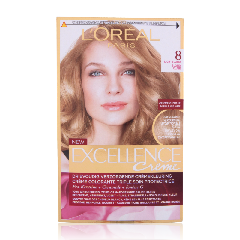 L'Oreal Excellence Creme Hair Color 8 Light Blonde