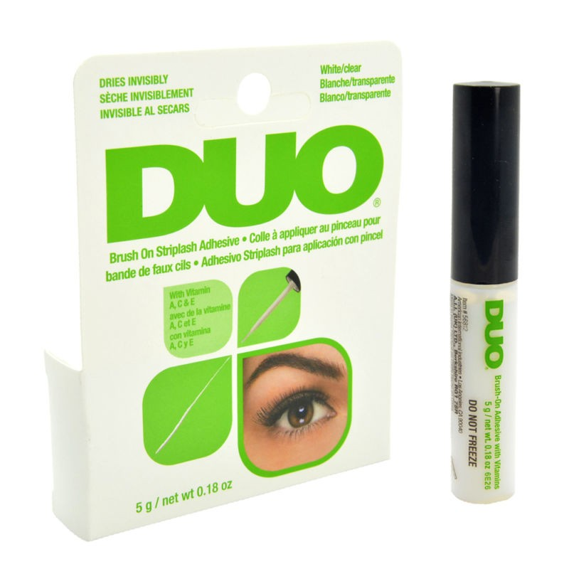 DUO Eyelash Brush On Striplash Adhesive White Wimpernkleber