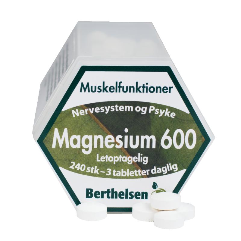 Berthelsen Magnesium 600 200 mg - Vegetabilsk