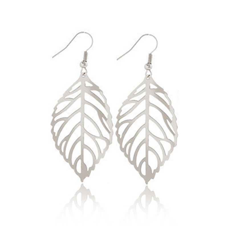 Everneed Siv Leaf Earring Silver