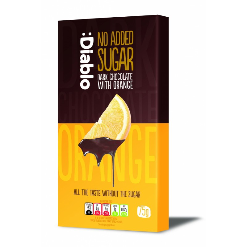 Diablo Sugar Free Dark Chocolate With Orange