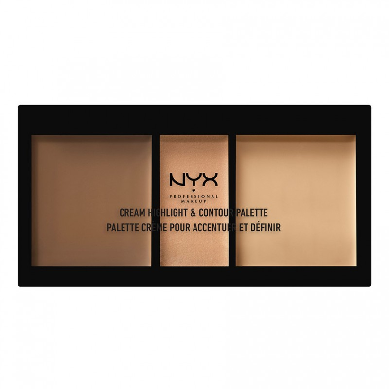 NYX Cream Highlight & Contour Palette Medium