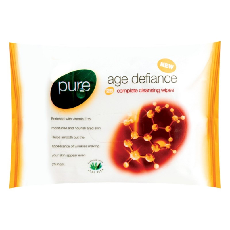 Pure Age Defiance Complete Cleansing Wipes
