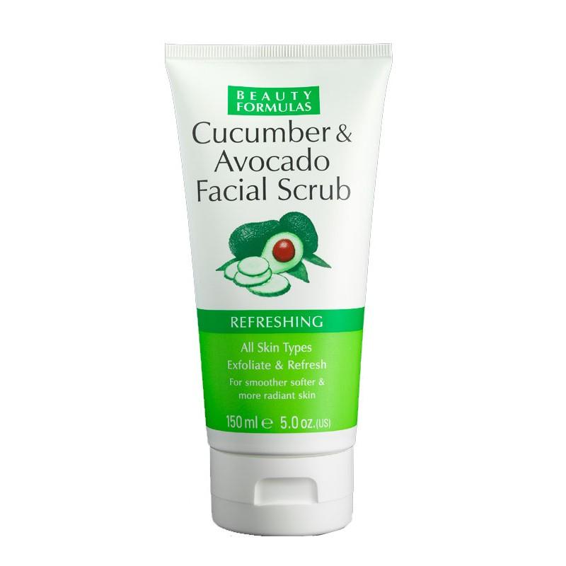 Beauty Formulas Refreshing Cucumber & Avocado Facial Scrub