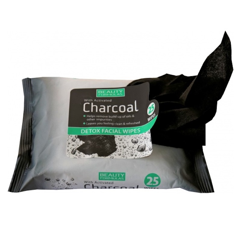Beauty Formulas Charcoal Detox Facial Wipes