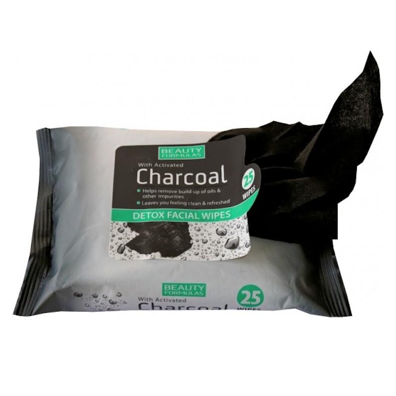 Beauty Formulas Charcoal Detox Kasvojen pyyhkeet