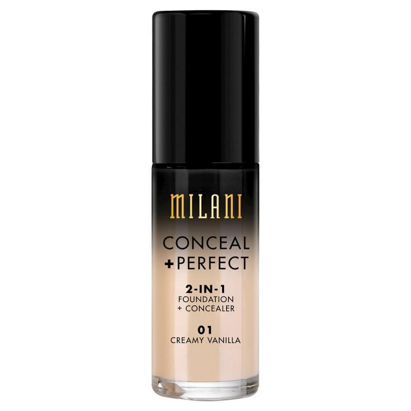 Milani Conceal + Perfect 2in1 Foundation + Concealer 01 Creamy Vanilla