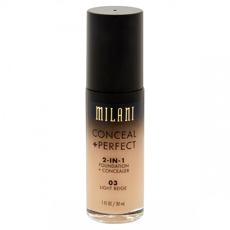 Milani Conceal + Perfect 2in1 Foundation + Concealer 03 Light Beige
