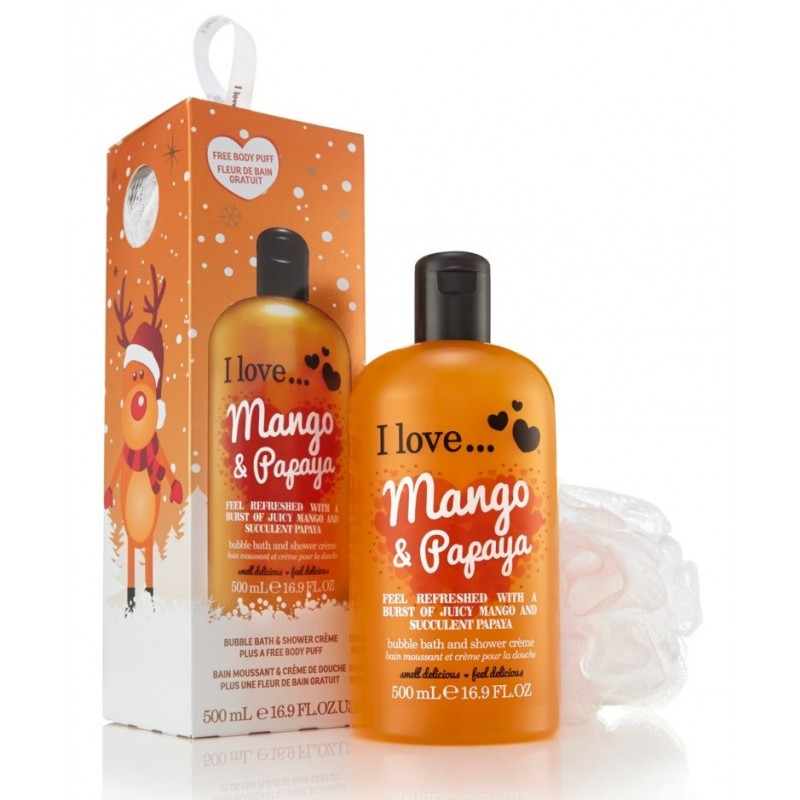 I Love Cosmetics Bubble Bath & Shower Cream Festive Set