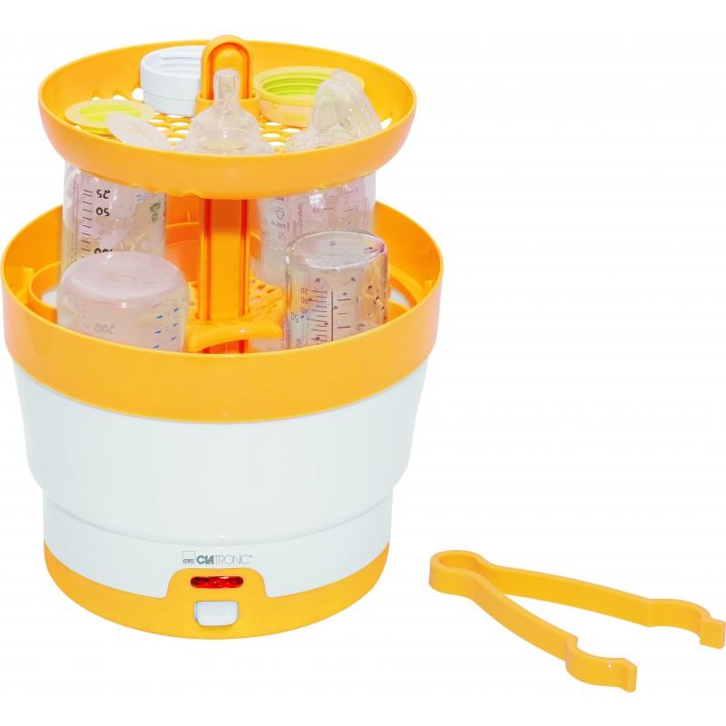 Clatronic BKW 3616 Baby Flaskesterilisator 6 Flasker Hvid Gul
