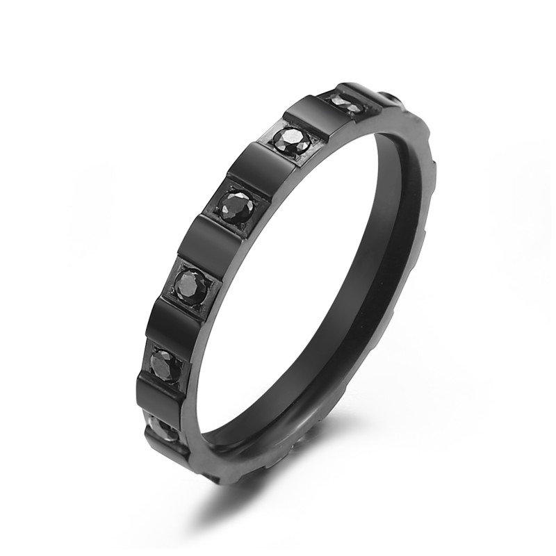 Kranz 1 Row Chess Ring Black
