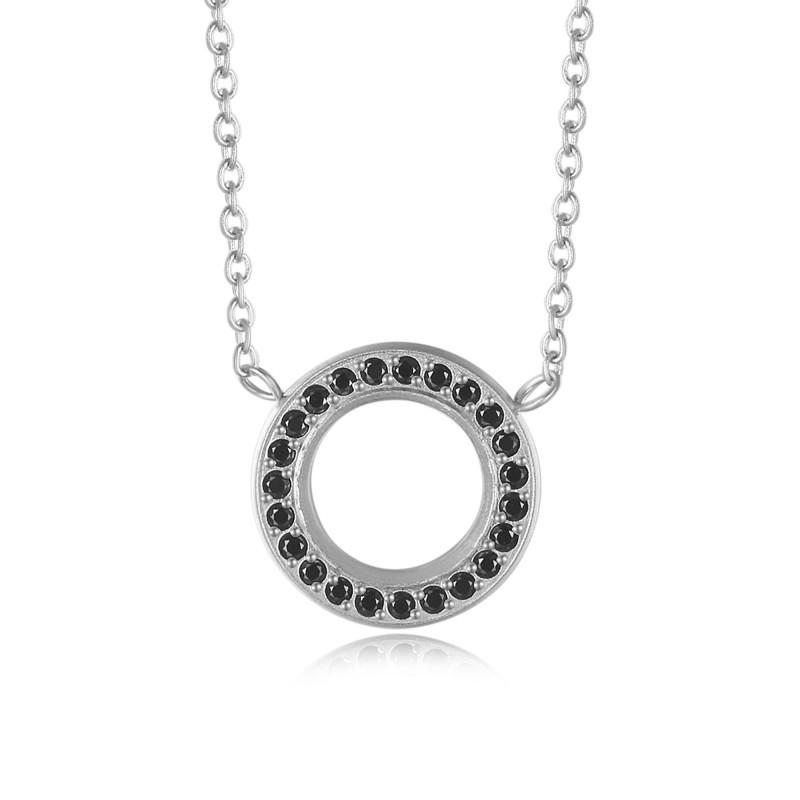 Kranz Circle Necklace Steel & Black