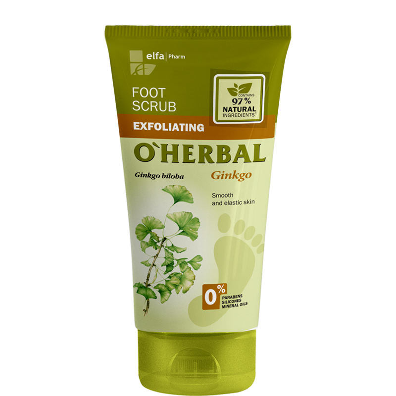 O'Herbal Gingko Exfoliating Foot Scrub