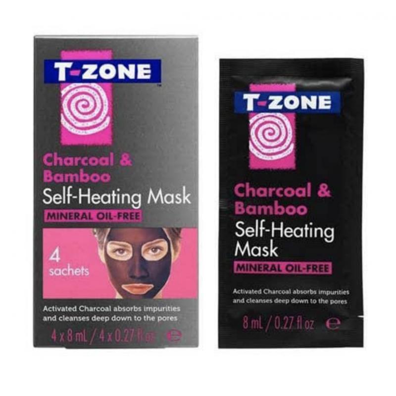 T-Zone Charcoal & Bamboo Self-Heating Mask