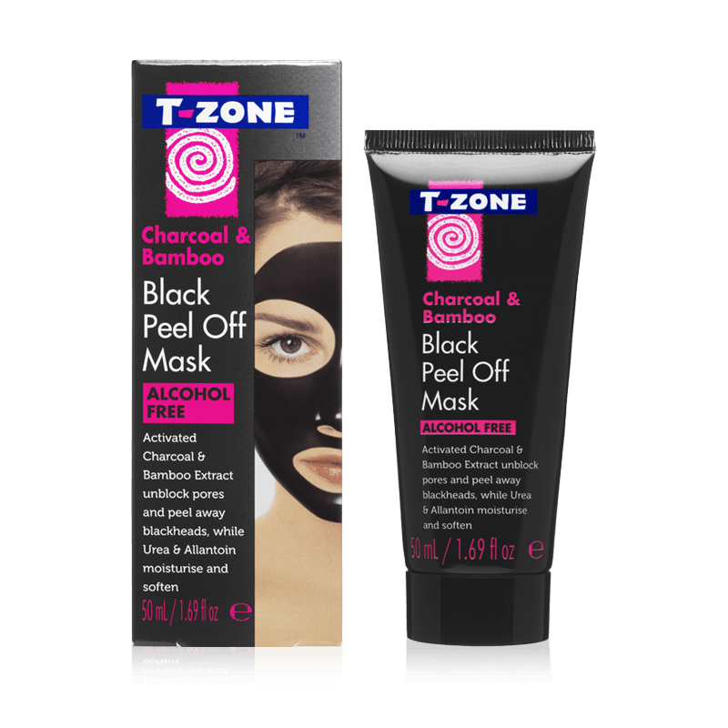T-Zone Charcoal & Bamboo Black Peel Off Mask