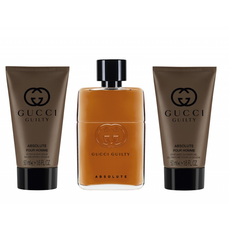 d8b71b285 Gucci Guilty Absolute EDP & After Shave Balm & Shower Gel 3 x 50 ml ...