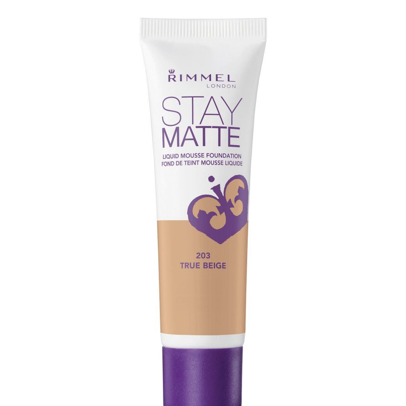 Rimmel Stay Matte Liquid Mousse Foundation 203 True Beige