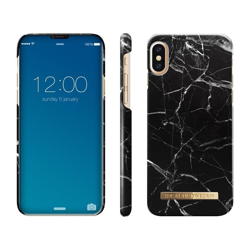 iDeal Of Sweden Fashion Case iPhone X/XS Black Marble$