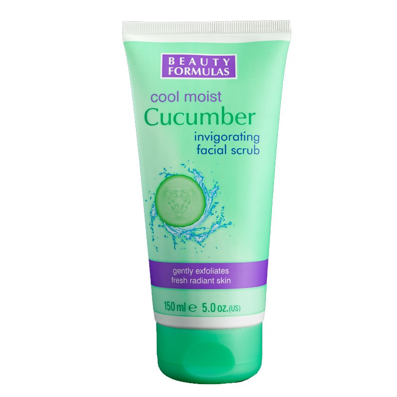 Beauty Formulas Cucumber Cool Moist Facial Scrub