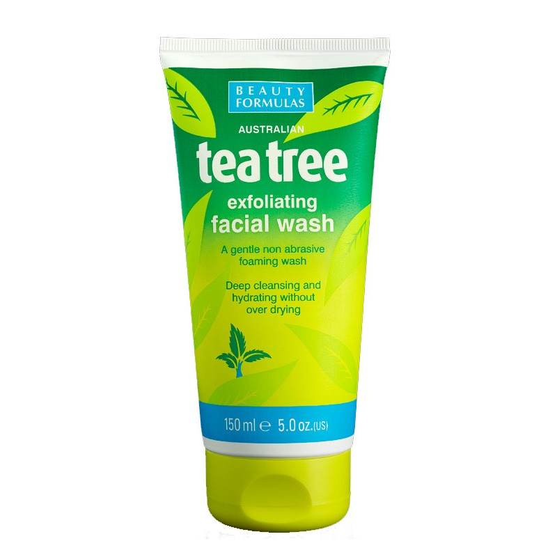 Beauty Formulas Tea Tree Exfoliating Facial Wash