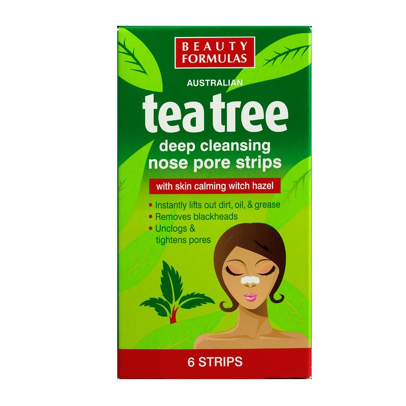 Beauty Formulas Tea Tree Deep Cleansing Nose Pore Strips