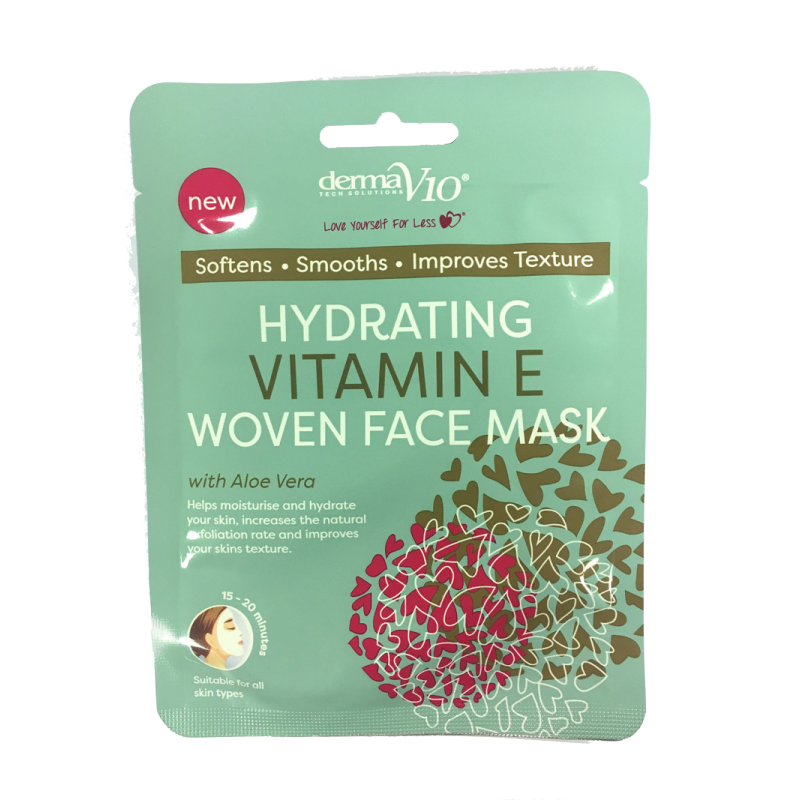DermaV10 Hydrating Vitamin E Woven Face Mask
